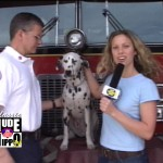 Amy Zanglin at the fire station