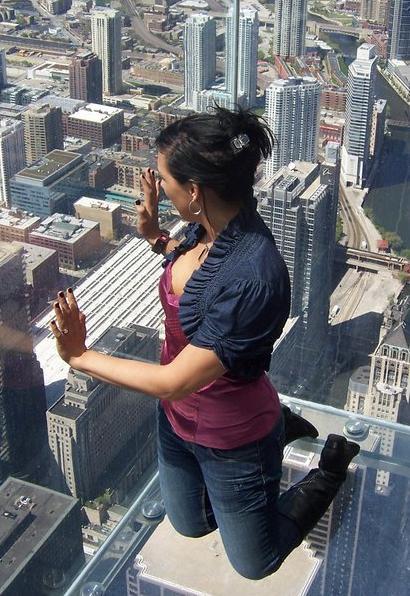 Gina Ferraro on the Skydeck