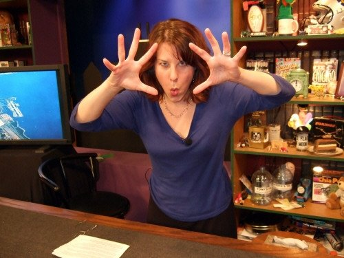 Laura Lodewyck in the WNC newsroom