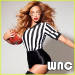 Yeah, Beyonce dropped by to show us her new ref line of clothing. Soon to be available at a Target, a/k/a Tar-Jay, near you.